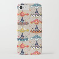 damask iPhone & iPod Cases featuring carousel damask by Sharon Turner
