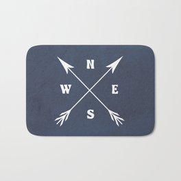 Compass arrows Bath Mat