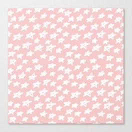Stars on pink background Canvas Print