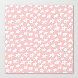 Stars on pink background Canvas Print