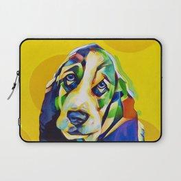 Pop Art Basset Hound Laptop Sleeve