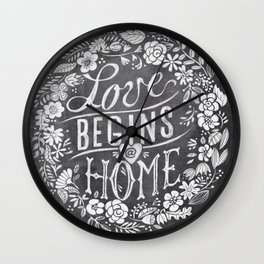 where love begins Wall Clock