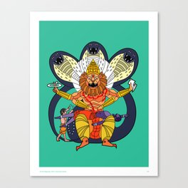 Narasimha - Half Man, Half Lion, All Vengeance! Canvas Print