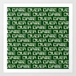 Game Over (i) Art Print