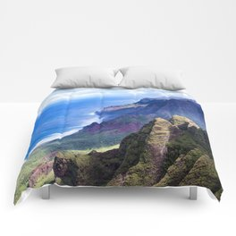 Hawaiian Coastal Cliffs: Aerial View From The Angels Comforters