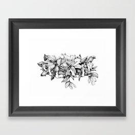 Delicate Hands Framed Art Print
