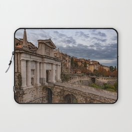 Side view of Porta San Giacomo and the walls of the upper city of Bergamo Laptop Sleeve