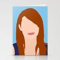 emma stone Stationery Cards featuring Emma Stone Digital Portrait by RoarsAdams