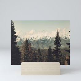 Snow capped Sierras Mini Art Print