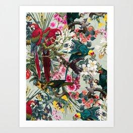 FLORAL AND BIRDS XXII Art Print