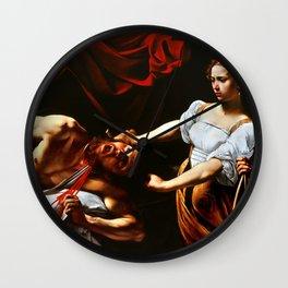 Caravaggio Judith Beheading Holofernes Wall Clock