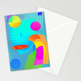 Re-Created Function f(x) No. 12 by Robert S. Lee Stationery Cards