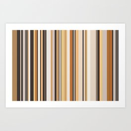 Wooden stripes Art Print