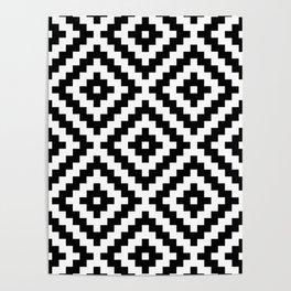 Aztec Block Symbol Ptn BW I Poster
