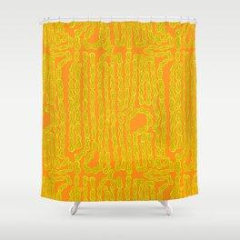 Bike Chain - Olive Citrus Shower Curtain
