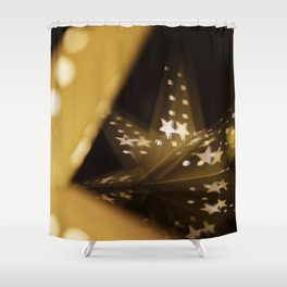 Xmas-Star And Mirror Image Shower Curtain
