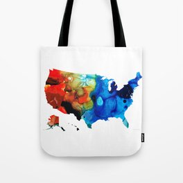 United States of America Map 4 - Colorful USA Tote Bag