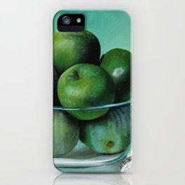 Green Apple and Tea Towel I iPhone Case