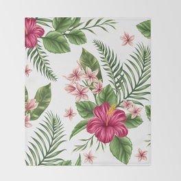 Tropical Flowers vol.3 Throw Blanket