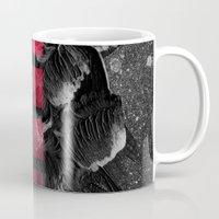 decal Mugs featuring black ocean by LEEMO