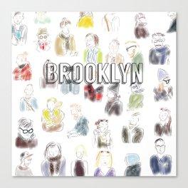 Brooklyn Subway Rush Hour Canvas Print