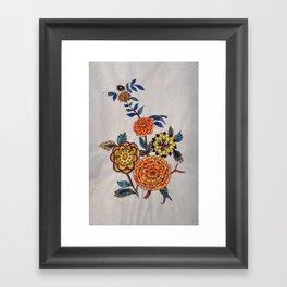 Felt pen floral fun Framed Art Print