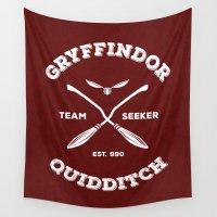 quidditch Wall Tapestries featuring Gryffindor Quidditch by Sharayah Mitchell