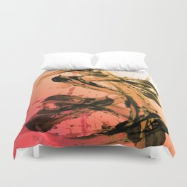 Calm and Fiery Abstraction Duvet Cover