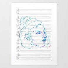Music to My Eyes Art Print