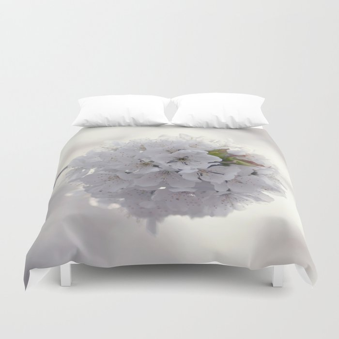 Cherry blossoms in Love - Cherryblossom Flowers Floral Duvet Cover