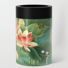 Chinese Lotus Full Moon Garden :: Fine Art Collage Can Cooler