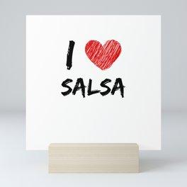 I Love Salsa Mini Art Print