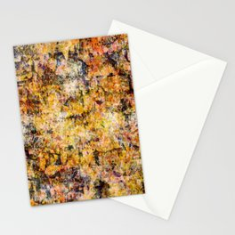 Urban Grunge Decay Texture Abstract Pattern Design , Rugged Mixed Media Modern Art Painting Stationery Cards