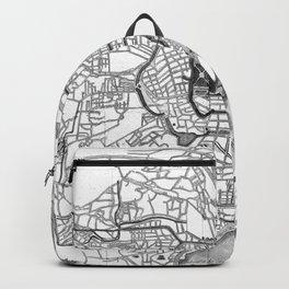 Vintage Map of Tokyo Japan (1752) BW Backpack