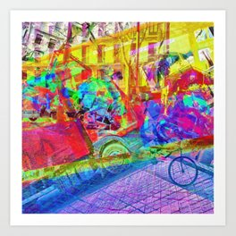 or easily determined because of all that runaround Art Print