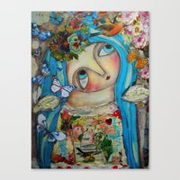 creativity Canvas Prints featuring Creativity by Dulcamara