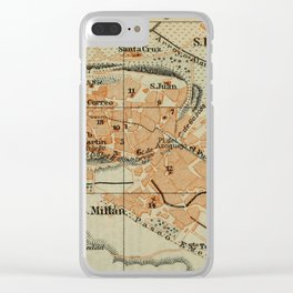 Vintage Segovia Spain Map (1913) Clear iPhone Case
