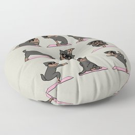Rottweiler Yoga Floor Pillow