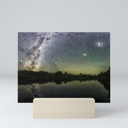 Henry Lake New Zealand Under Southern Hemisphere Skies By Olena Art Mini Art Print