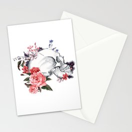 Roses Skull - Death's head Stationery Cards