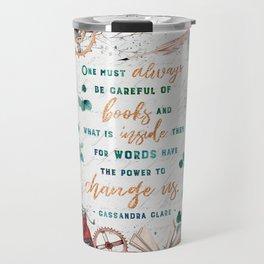 Be careful of books Travel Mug