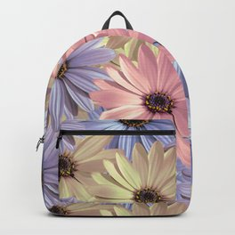 Pink Yellow Blue Backpack