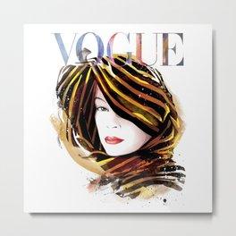 Vogue Fashion Illustration #14 Metal Print