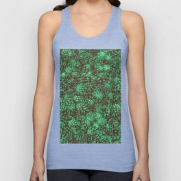 Scent of Pine RETRO GREEN / Photograph of pine cones Unisex Tank Top
