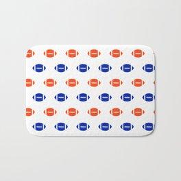Florida fan university gators orange and blue college sports footballs pattern Bath Mat