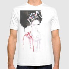 Watercolor illustrations White Mens Fitted Tee MEDIUM