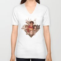 marauders V-neck T-shirts featuring The Marauders by Susanne
