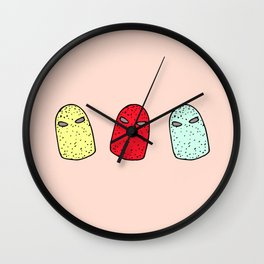 luchadores Wall Clock