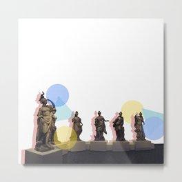 Statue Squad Metal Print