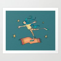 freedom Art Prints featuring Freedom by Catru